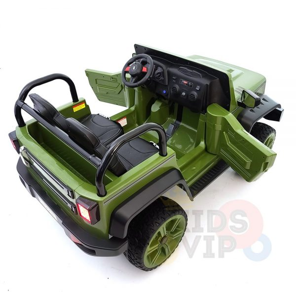 kidsvip 2 seater ride on truck 2 12v batteries kids and toddlers green 11
