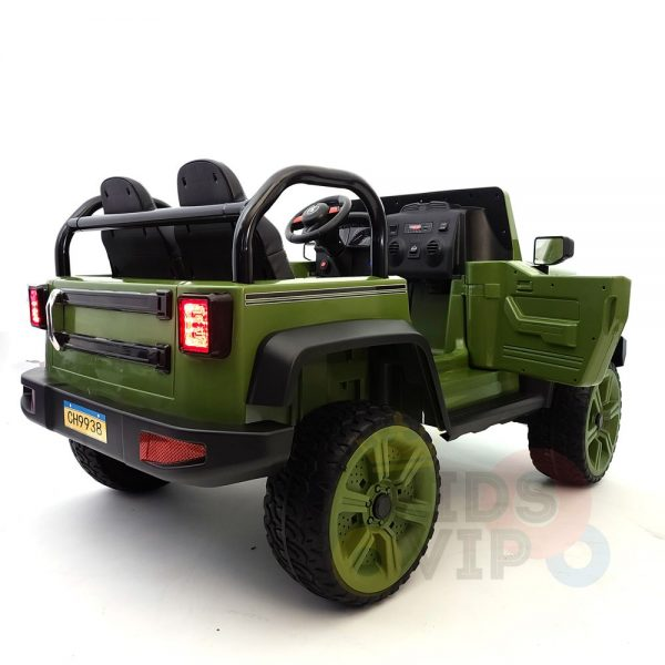 kidsvip 2 seater ride on truck 2 12v batteries kids and toddlers green 13