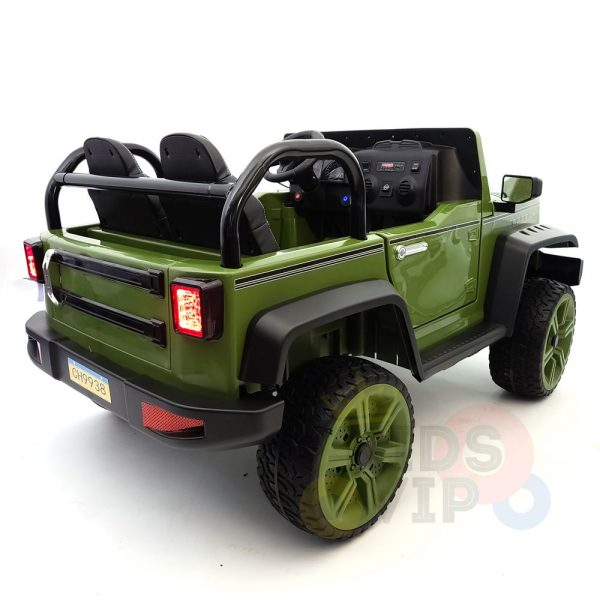 kidsvip 2 seater ride on truck 2 12v batteries kids and toddlers green 15