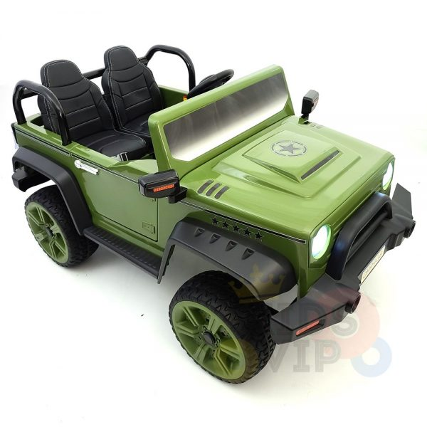 kidsvip 2 seater ride on truck 2 12v batteries kids and toddlers green 17