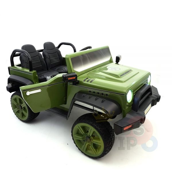 kidsvip 2 seater ride on truck 2 12v batteries kids and toddlers green 22