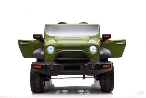 kidsvip 2 seater ride on truck 2 12v batteries kids and toddlers green 24 scaled