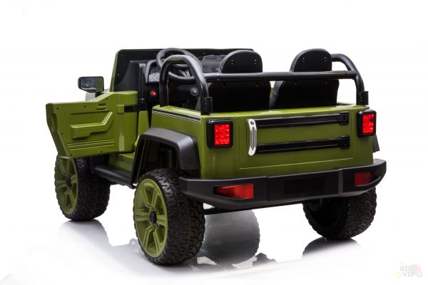 kidsvip 2 seater ride on truck 2 12v batteries kids and toddlers green 26 scaled