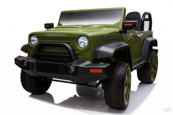 kidsvip 2 seater ride on truck 2 12v batteries kids and toddlers green 33 scaled