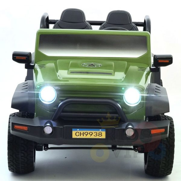 kidsvip 2 seater ride on truck 2 12v batteries kids and toddlers green 37