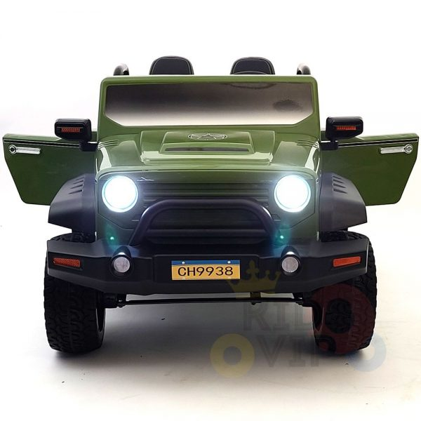 kidsvip 2 seater ride on truck 2 12v batteries kids and toddlers green 39