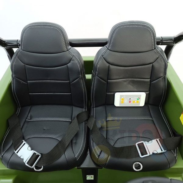 kidsvip 2 seater ride on truck 2 12v batteries kids and toddlers green 41