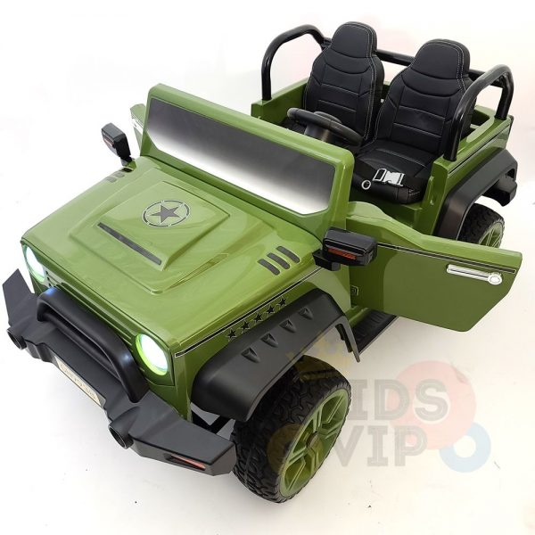 kidsvip 2 seater ride on truck 2 12v batteries kids and toddlers green 42
