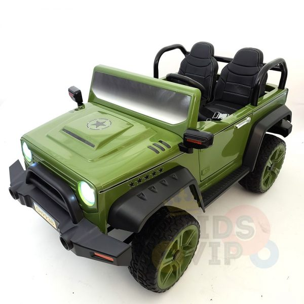kidsvip 2 seater ride on truck 2 12v batteries kids and toddlers green 45