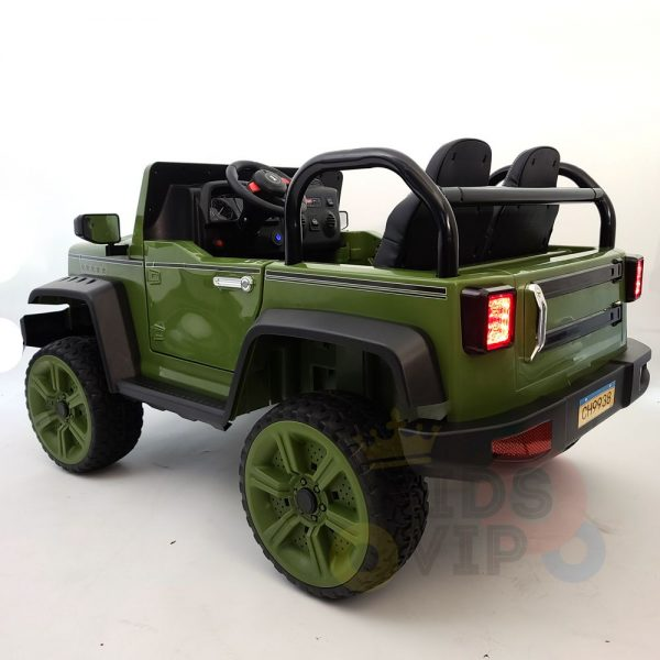 kidsvip 2 seater ride on truck 2 12v batteries kids and toddlers green 48