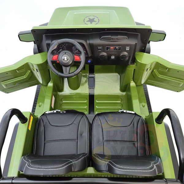 kidsvip 2 seater ride on truck 2 12v batteries kids and toddlers green 5