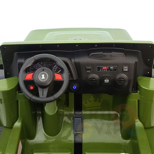 kidsvip 2 seater ride on truck 2 12v batteries kids and toddlers green 7