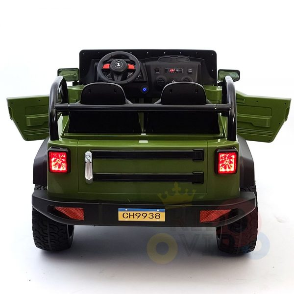 kidsvip 2 seater ride on truck 2 12v batteries kids and toddlers green 9