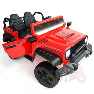 kidsvip 2 seater ride on truck 2 12v batteries kids and toddlers red 22