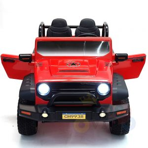 kidsvip 2 seater ride on truck 2 12v batteries kids and toddlers red 24