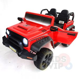 kidsvip 2 seater ride on truck 2 12v batteries kids and toddlers red 29