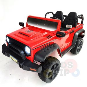 kidsvip 2 seater ride on truck 2 12v batteries kids and toddlers red 32