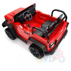 kidsvip 2 seater ride on truck 2 12v batteries kids and toddlers red 34