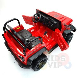 kidsvip 2 seater ride on truck 2 12v batteries kids and toddlers red 8