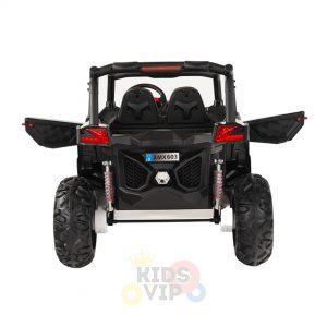 kidsvip 2 seater ride on utv sport 24v rubber wheels toddlers kids black 11