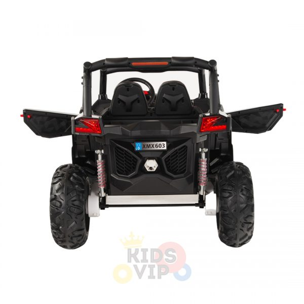kidsvip 2 seater ride on utv sport 24v rubber wheels toddlers kids black 11