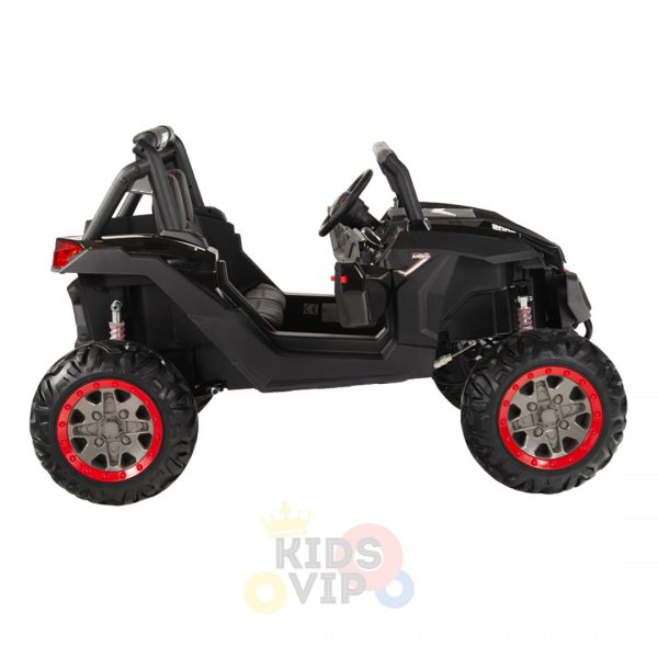 kidsvip 2 seater ride on utv sport 24v rubber wheels toddlers kids black 12