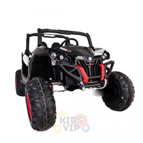kidsvip 2 seater ride on utv sport 24v rubber wheels toddlers kids black 18