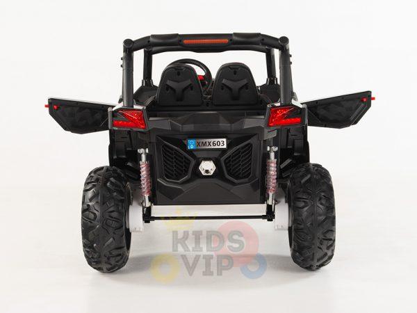 kidsvip 2 seater ride on utv sport 24v rubber wheels toddlers kids black 21