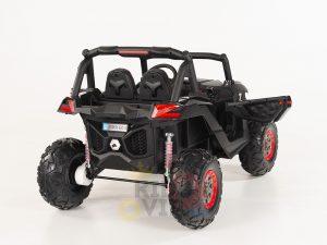 kidsvip 2 seater ride on utv sport 24v rubber wheels toddlers kids black 27