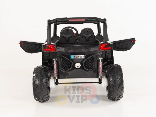 kidsvip 2 seater ride on utv sport 24v rubber wheels toddlers kids black 28