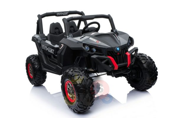 kidsvip 2 seater ride on utv sport 24v rubber wheels toddlers kids black 33