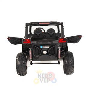 kidsvip 2 seater ride on utv sport 24v rubber wheels toddlers kids black 5