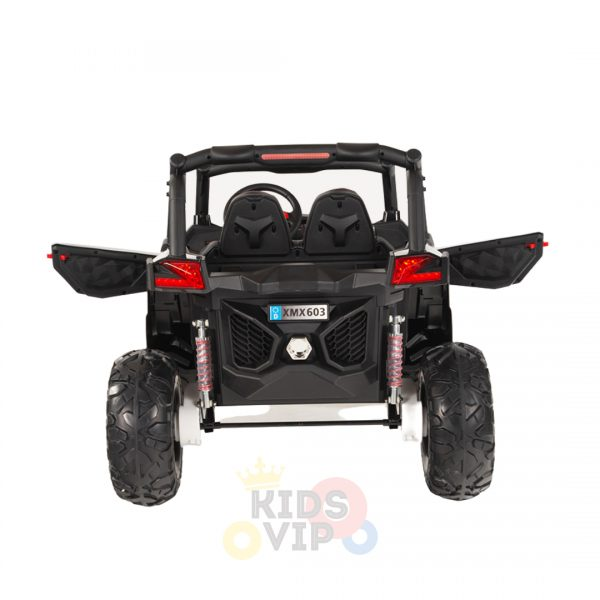 kidsvip 2 seater ride on utv sport 24v rubber wheels toddlers kids black 5