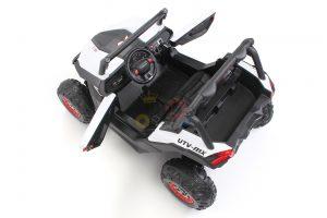 kidsvip 2 seater ride on utv sport 24v rubber wheels toddlers kids white 12