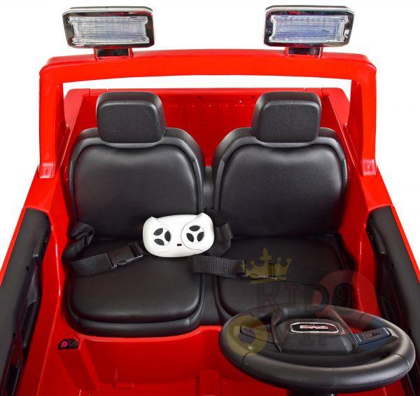 kidsvip gmc sierra kids ride on car 12v rubber wheels leather seat 2 seater red white black blue pink 1
