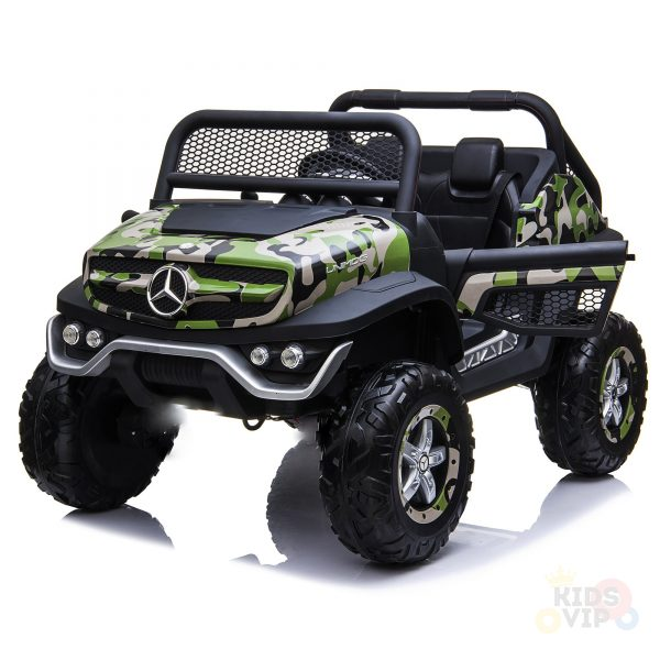 kidsvip mercedes unimog 24v ride on truck kids and toddlers army 9