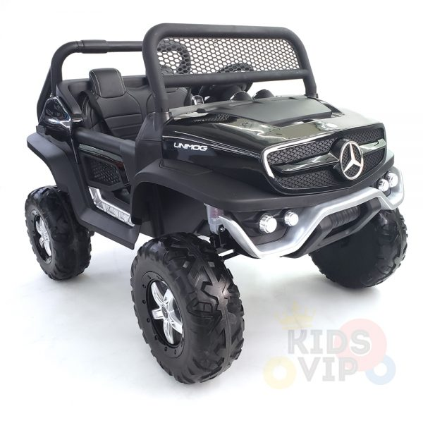 kidsvip mercedes unimog 24v ride on truck kids and toddlers black 13