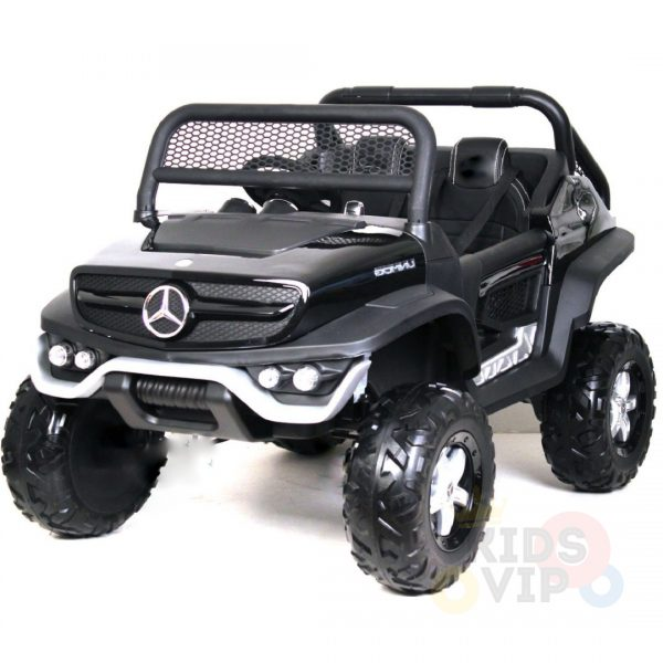 kidsvip mercedes unimog 24v ride on truck kids and toddlers black 2