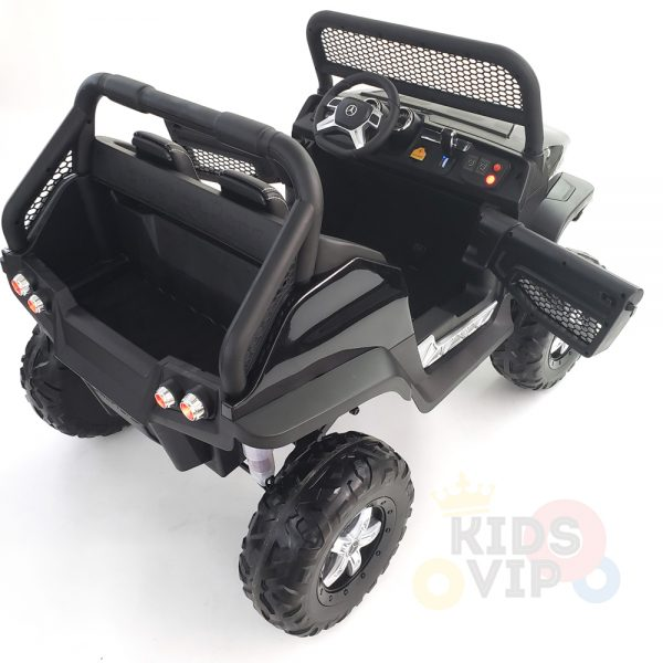 kidsvip mercedes unimog 24v ride on truck kids and toddlers black 3