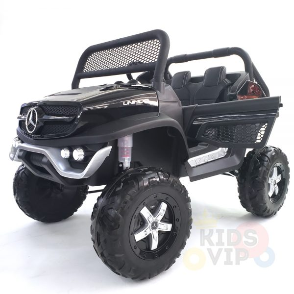 kidsvip mercedes unimog 24v ride on truck kids and toddlers black 33