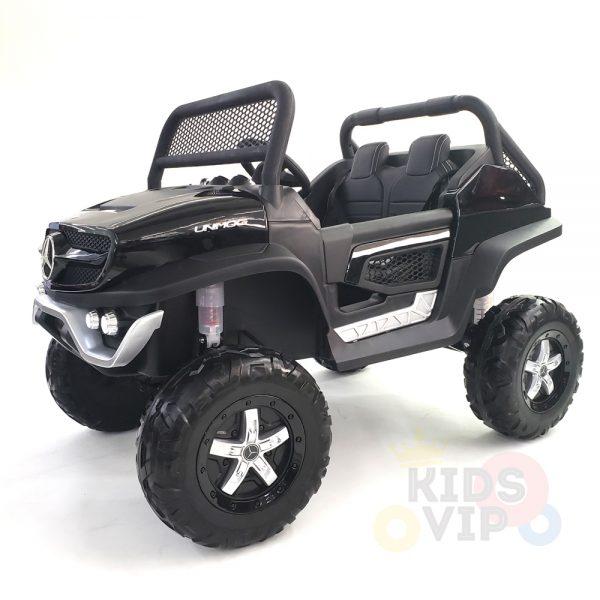 kidsvip mercedes unimog 24v ride on truck kids and toddlers black 36
