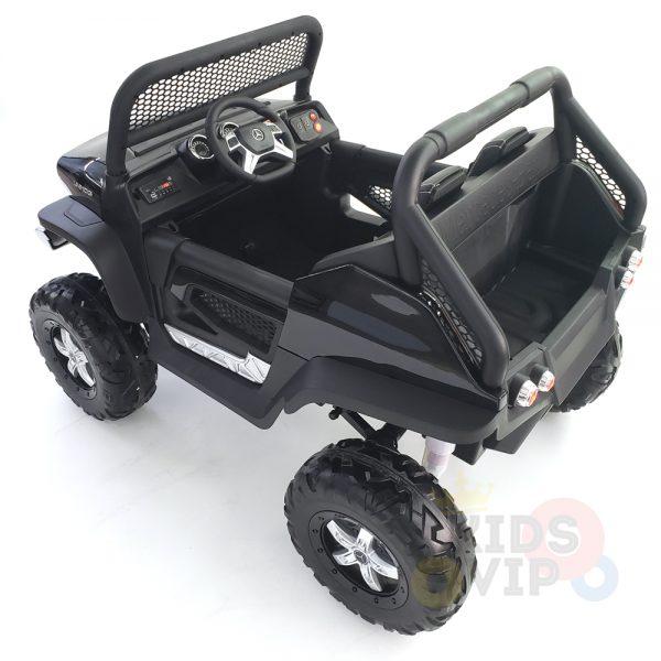 kidsvip mercedes unimog 24v ride on truck kids and toddlers black 37