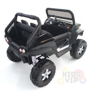 kidsvip mercedes unimog 24v ride on truck kids and toddlers black 6