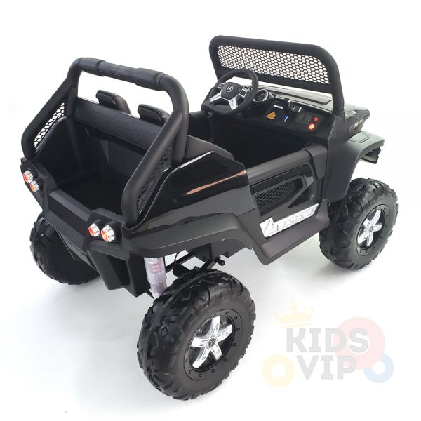 kidsvip mercedes unimog 24v ride on truck kids and toddlers black 6