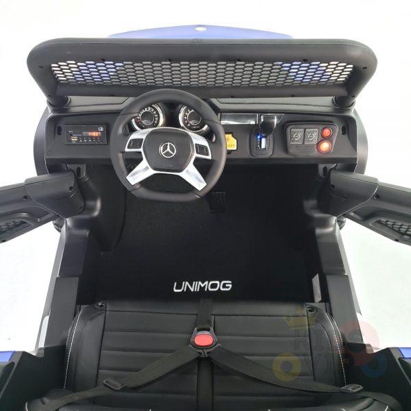 kidsvip mercedes unimog 24v ride on truck kids and toddlers blue 16