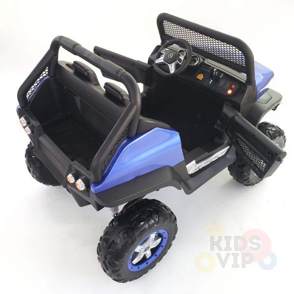 kidsvip mercedes unimog 24v ride on truck kids and toddlers blue 20