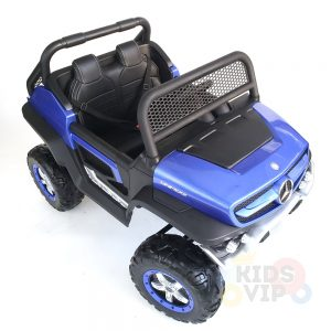 kidsvip mercedes unimog 24v ride on truck kids and toddlers blue 26