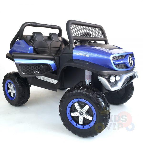 kidsvip mercedes unimog 24v ride on truck kids and toddlers blue 30