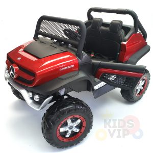 kidsvip mercedes unimog 24v ride on truck kids and toddlers red 10
