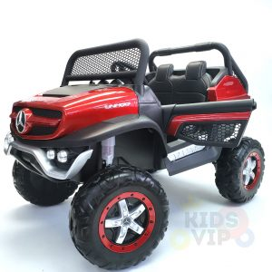 kidsvip mercedes unimog 24v ride on truck kids and toddlers red 11